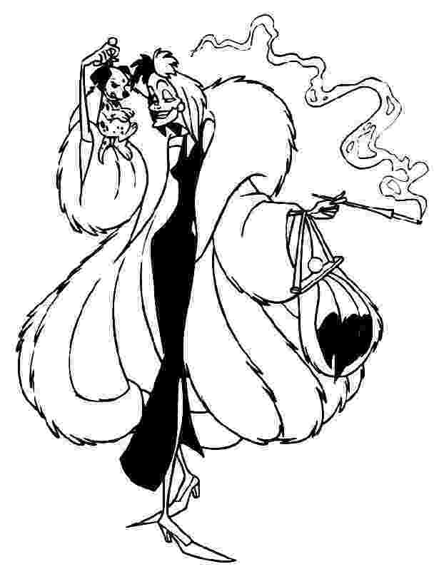 cruella deville coloring page disney coloring pages for your little ones cruella page deville coloring