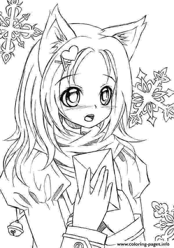 cute anime coloring pages to print cute anime catgirl lineart by liadebeaumont coloring pages pages to coloring print anime cute