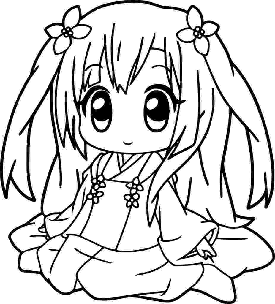 cute anime coloring pages to print cute chibi coloring pages coloring to cute pages anime print