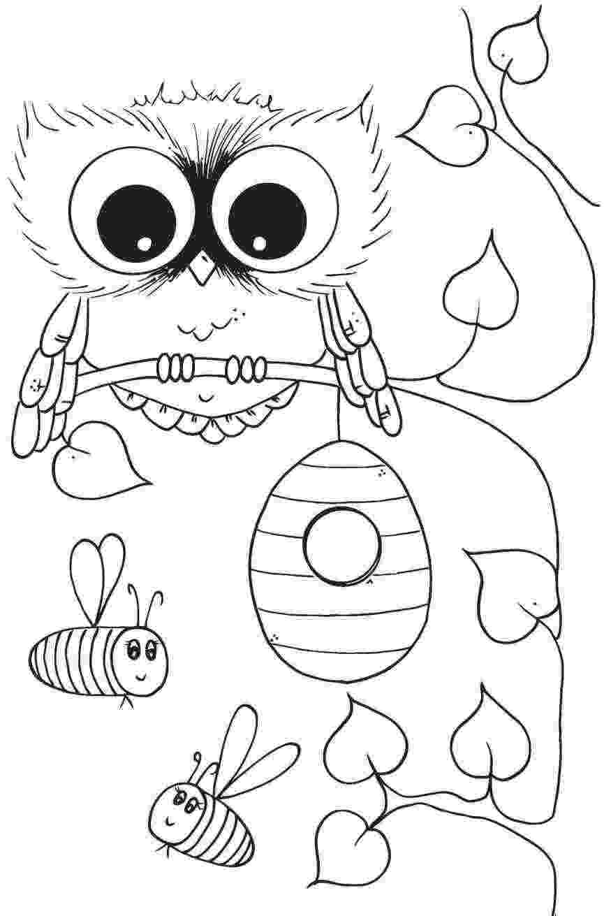 cute coloring pages of owls couple of cute owls coloring page free printable coloring cute owls pages of