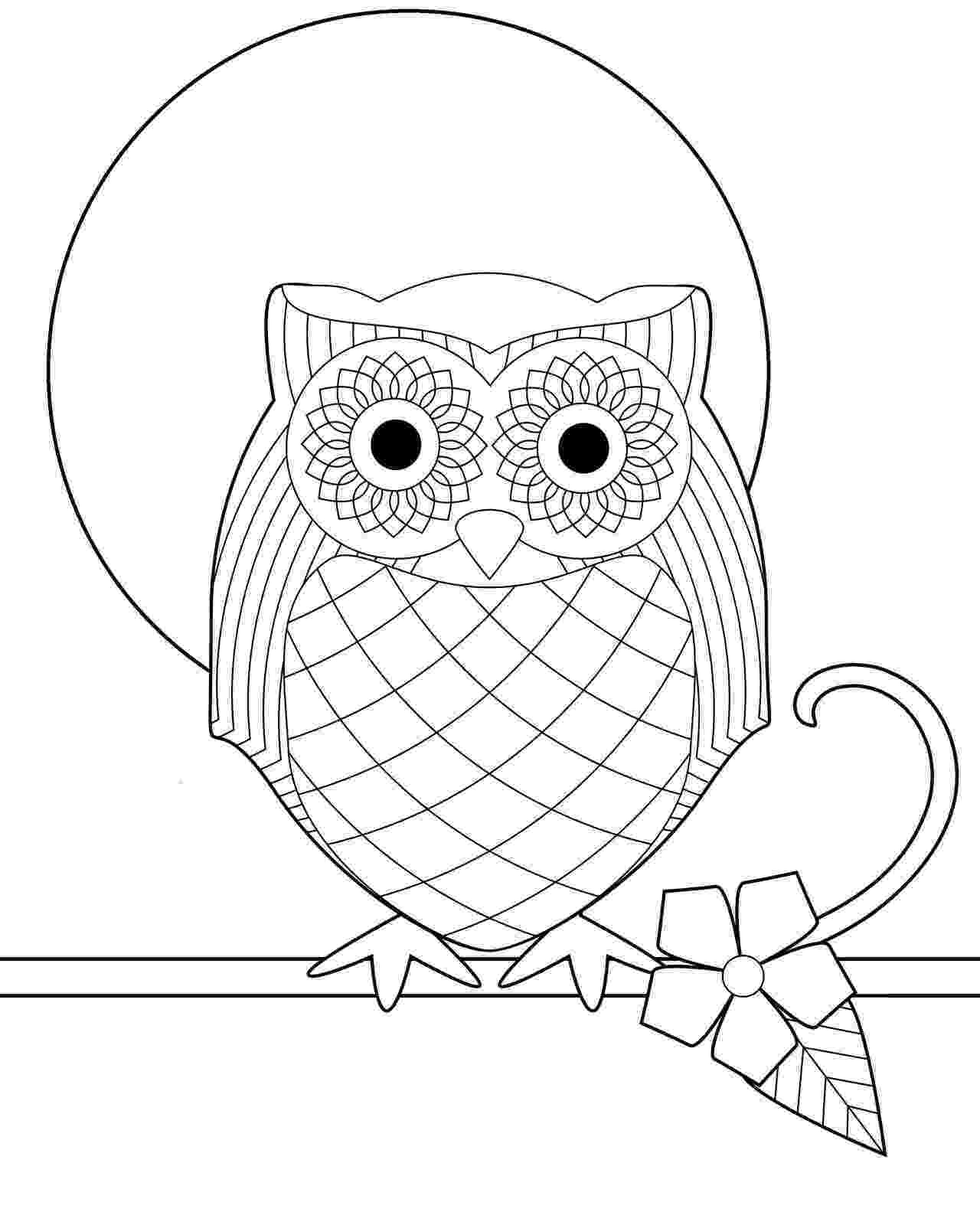 cute coloring pages of owls owl dreamcatcher owls adult coloring pages owls coloring cute pages of