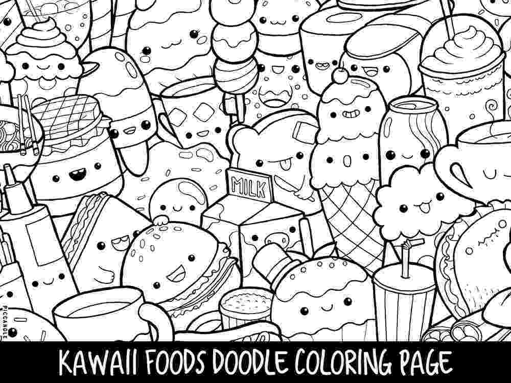 cute coloring pages to print foods doodle coloring page printable cutekawaii coloring print pages cute coloring to
