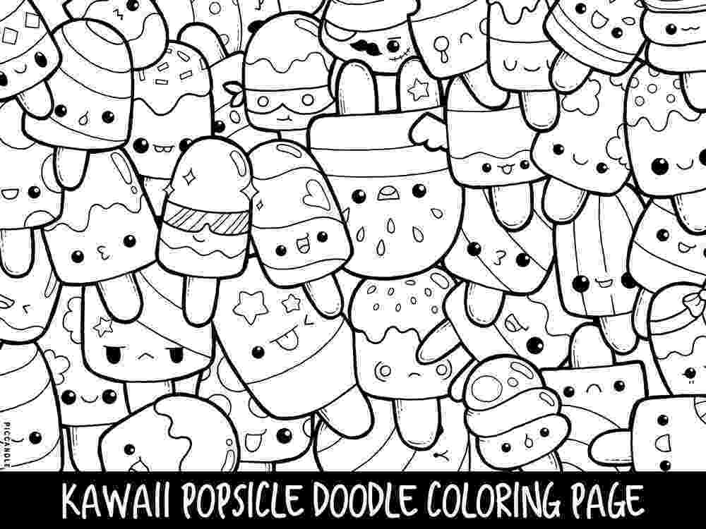 cute coloring pages to print popsicle doodle coloring page printable cutekawaii coloring coloring cute pages print to