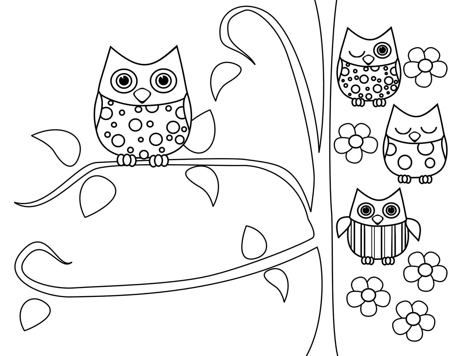 cute owl printable coloring pages cute baby owl drawing at getdrawingscom free for cute owl coloring printable pages