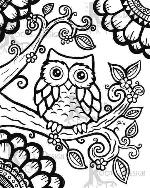 cute owl printable coloring pages eternally 28 night owling cute owl coloring printable pages