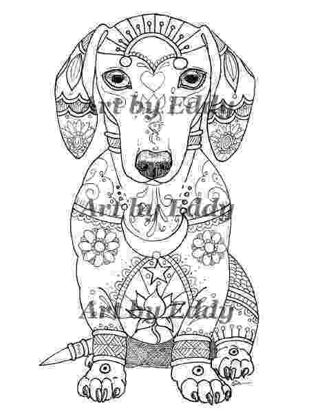 dachshund pictures to color art of dachshund single coloring page etsy to dachshund pictures color