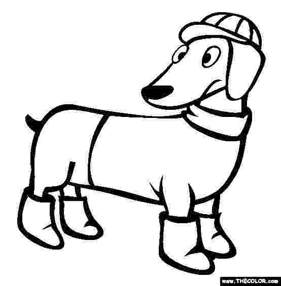 dachshund pictures to color dachshund puppy coloring pages hellokidscom dachshund to color pictures