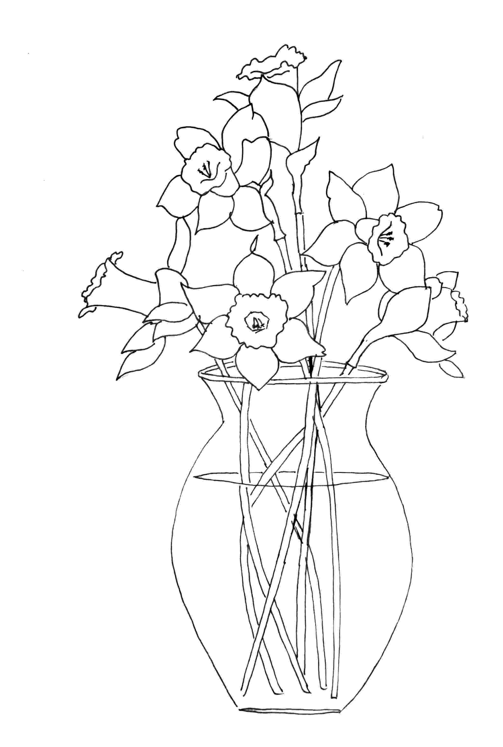 daffodil color coloring daffodil single coloring pages color daffodil