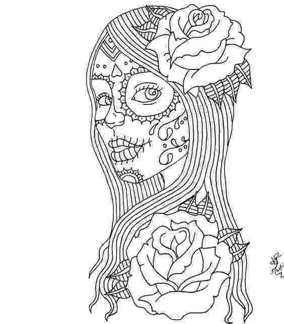 day of dead coloring pages day of the dead skull coloring pages coloring home dead coloring of day pages