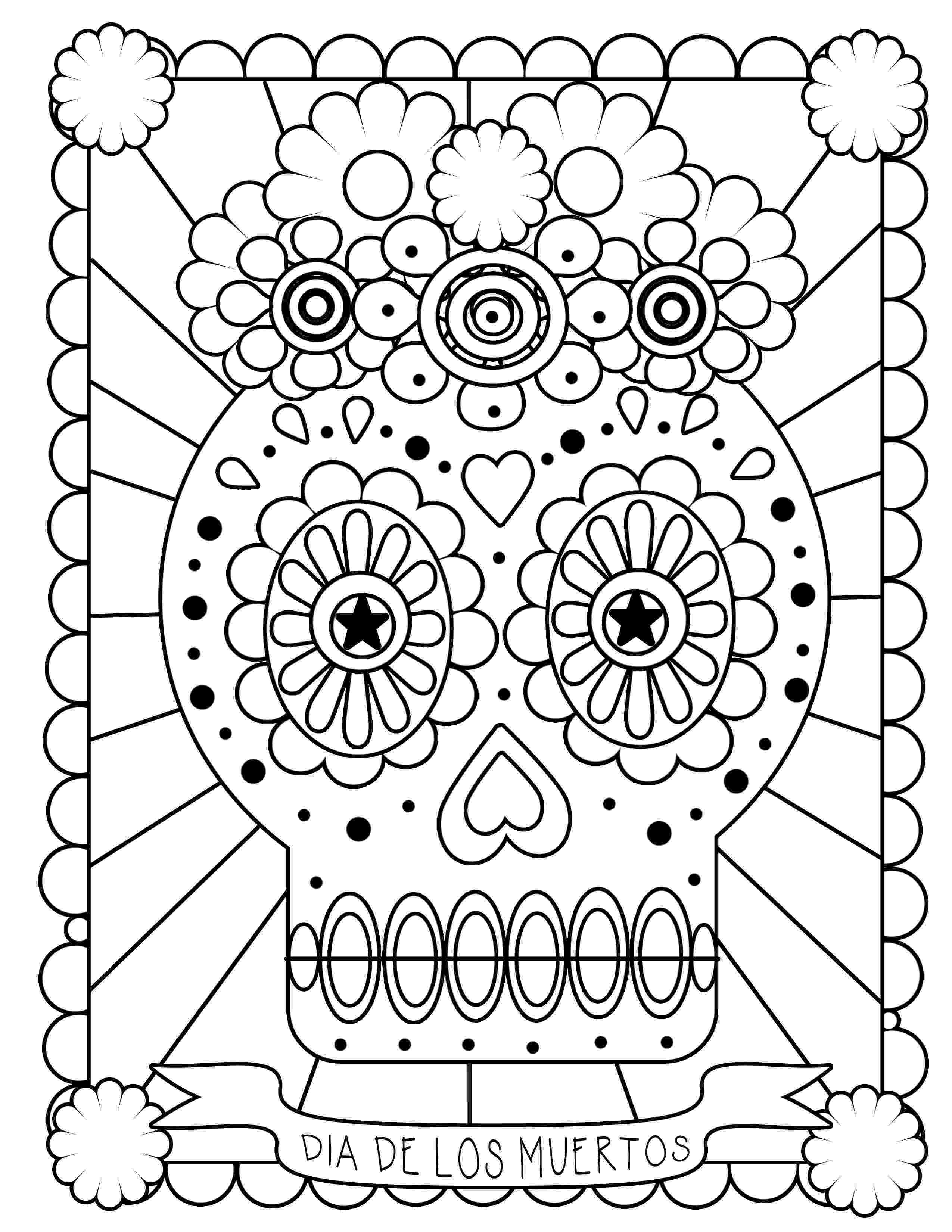 day of the dead printable pictures free printable day of the dead coloring pages best day of the printable dead pictures