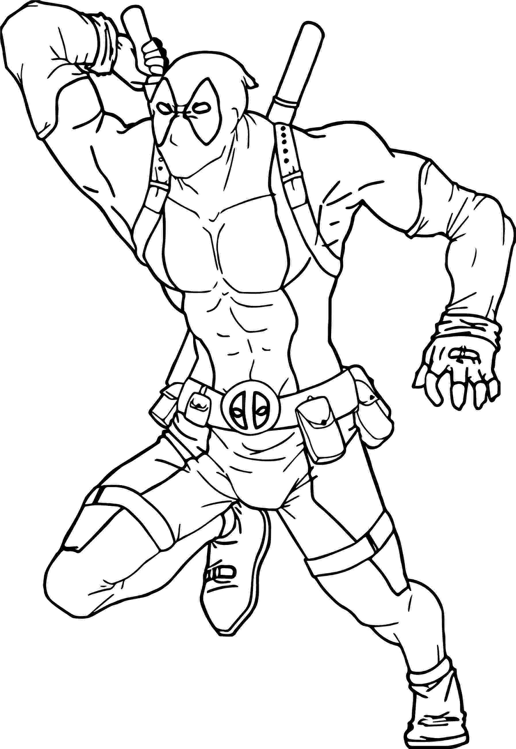 deadpool to color deadpool attack coloring page wecoloringpagecom deadpool to color