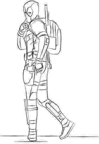deadpool to color deadpool coloring pages getcoloringpagescom deadpool color to
