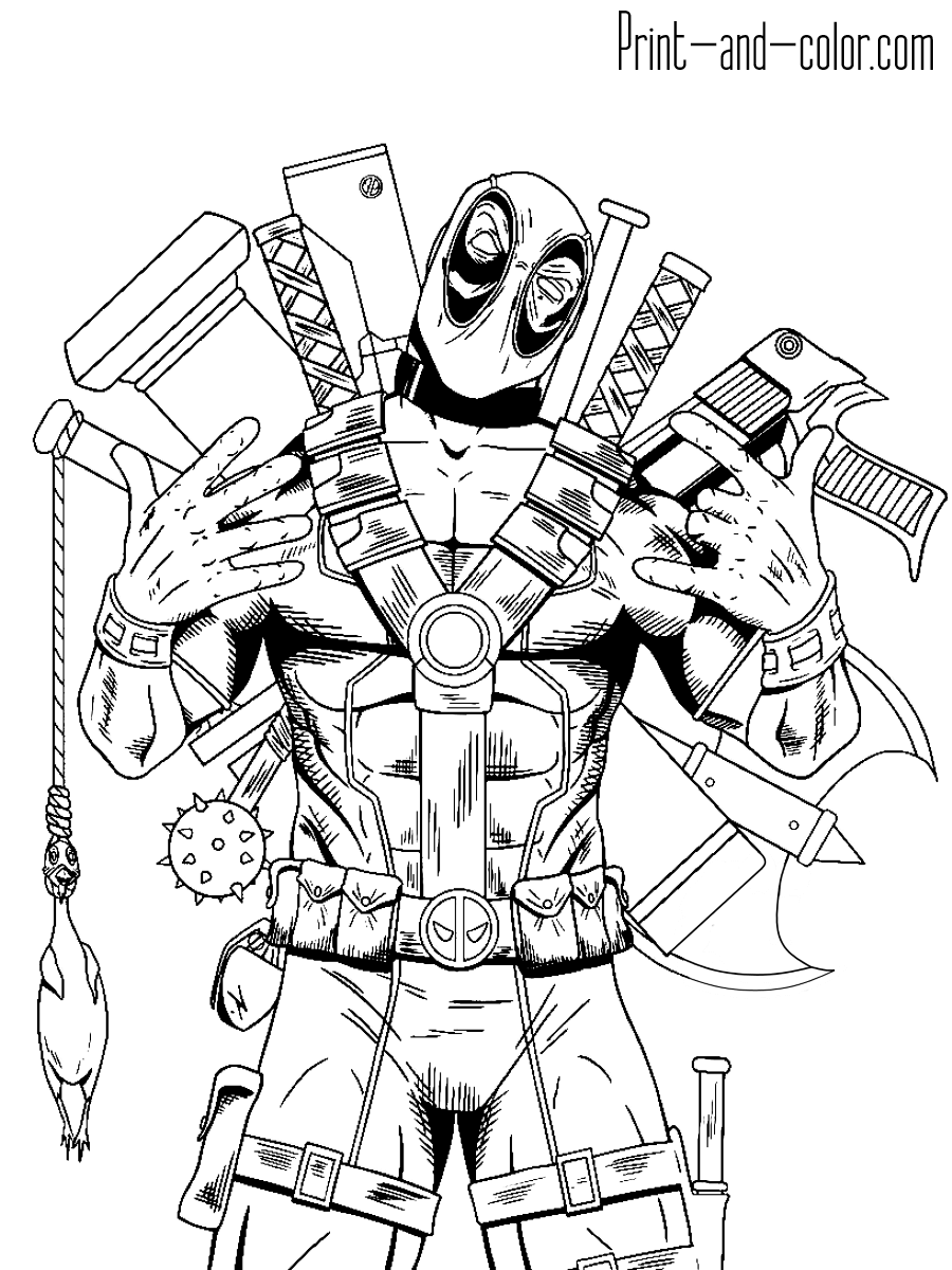 deadpool to color deadpool coloring pages print and colorcom to deadpool color 1 1
