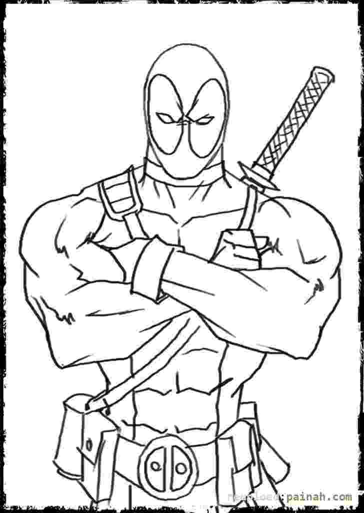 deadpool to color deathstroke coloring pages coloring home color deadpool to