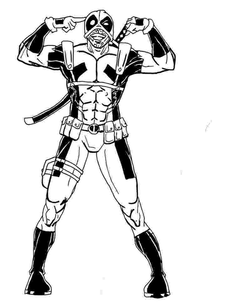 deadpool to color free printable deadpool coloring pages for kids avengers color to deadpool