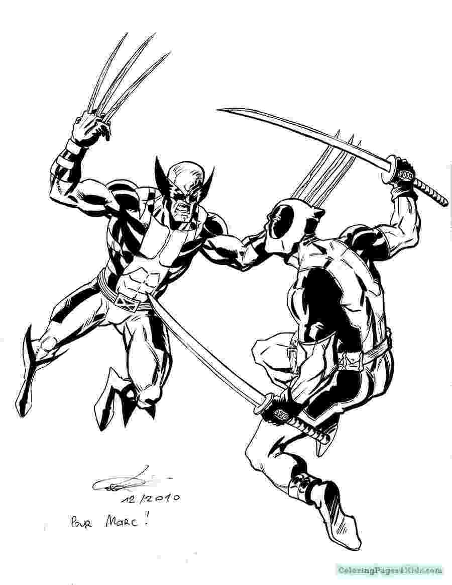 deadpool to color free printable deadpool coloring pages for kids deadpool color to