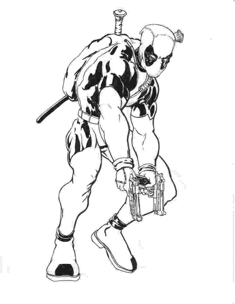 deadpool to color free printable deadpool coloring pages for kids deadpool to color