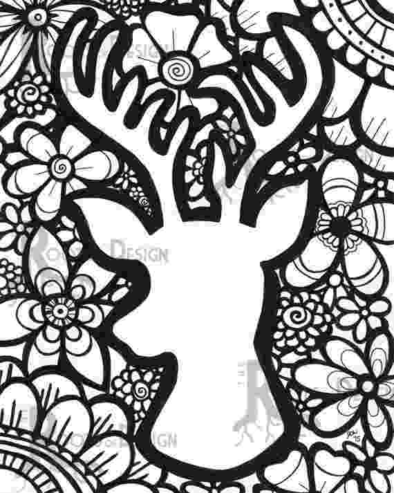 deer head coloring pages deer coloring pages coloring pages to download and print head pages deer coloring