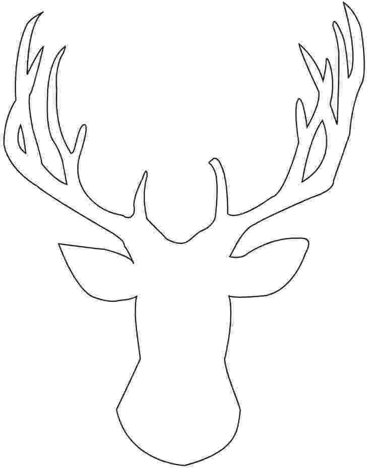 deer head coloring pages deer head drawings easy sketch coloring page deer pages head coloring