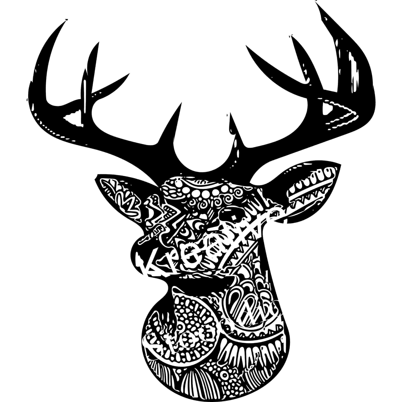 deer zentangle deer zentangle coloring page free printable coloring pages deer zentangle