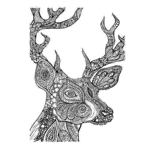 deer zentangle digi tizers zentangle deer svg studio v3 jpg zentangle deer