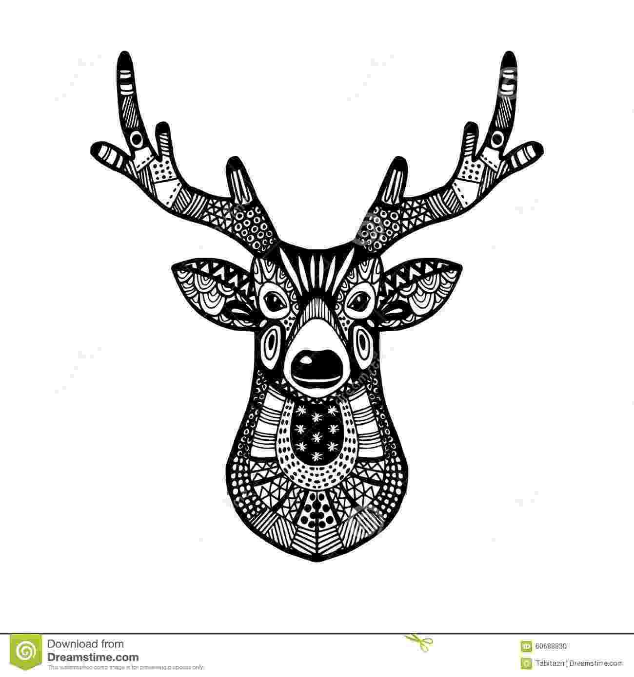 deer zentangle ornamental deer head trendy ethnic zentangle design hand zentangle deer