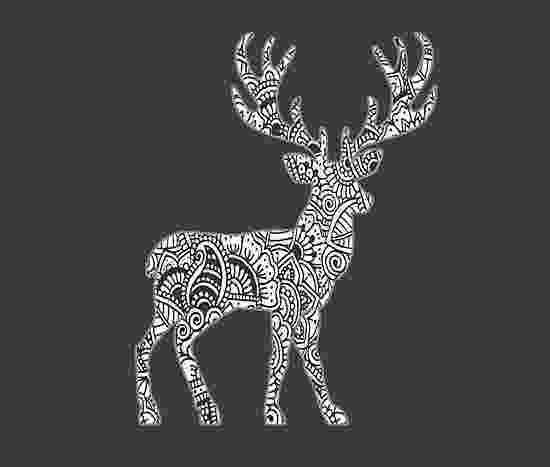 deer zentangle quotdeer zentangle art black and whitequot photographic prints zentangle deer