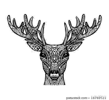 deer zentangle vector of deer or reindeer in zentangle style stock deer zentangle