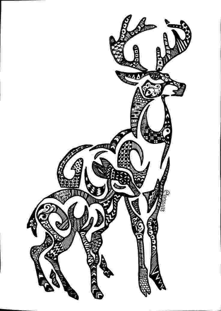 deer zentangle zentangle deer head etsy zentangle deer