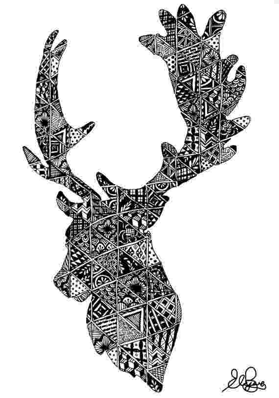 deer zentangle zentangle deer stag pinterest dashboards and zentangle zentangle deer