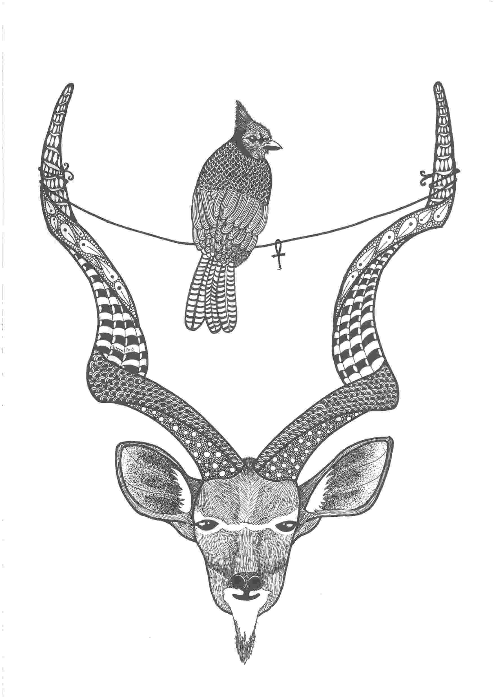 deer zentangle zentangle kudu deer by poreenart my own creations deer zentangle