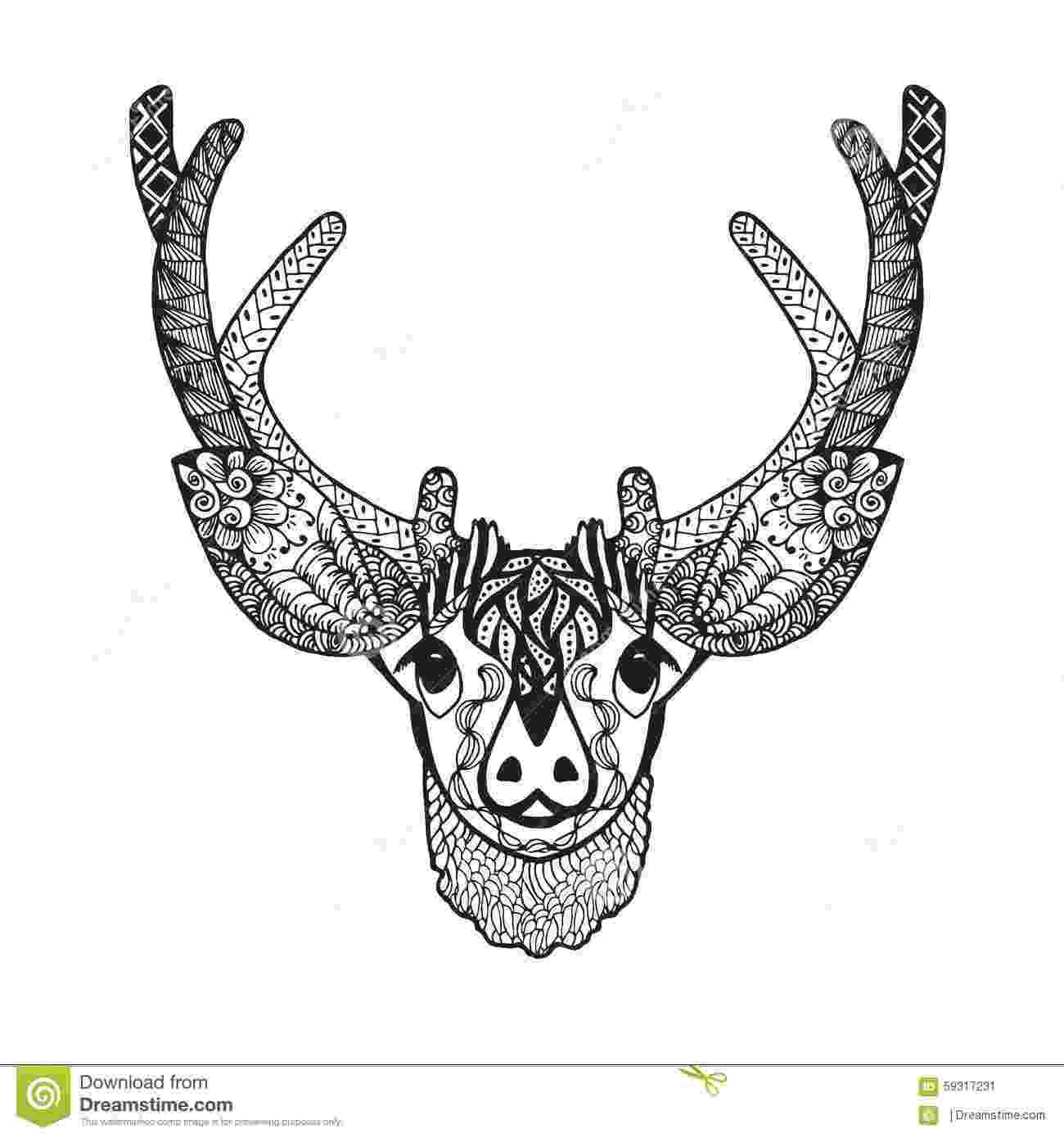 deer zentangle zentangle stylized baby deer sketch for tattoo or t shirt deer zentangle