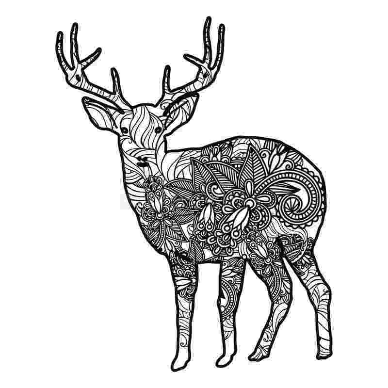 deer zentangle zentangle stylized deer illustration hand drawn doodle zentangle deer