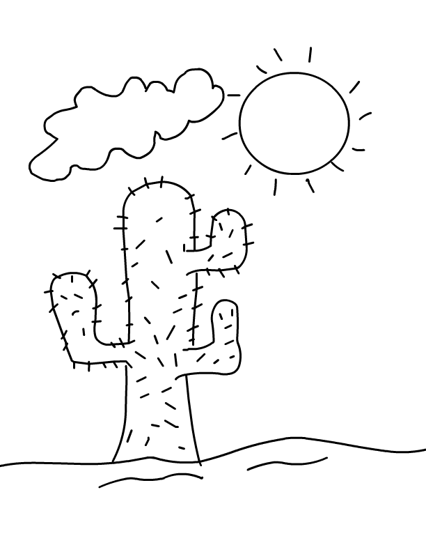 desert plants coloring pages desert coloring pages best coloring pages for kids desert plants coloring pages