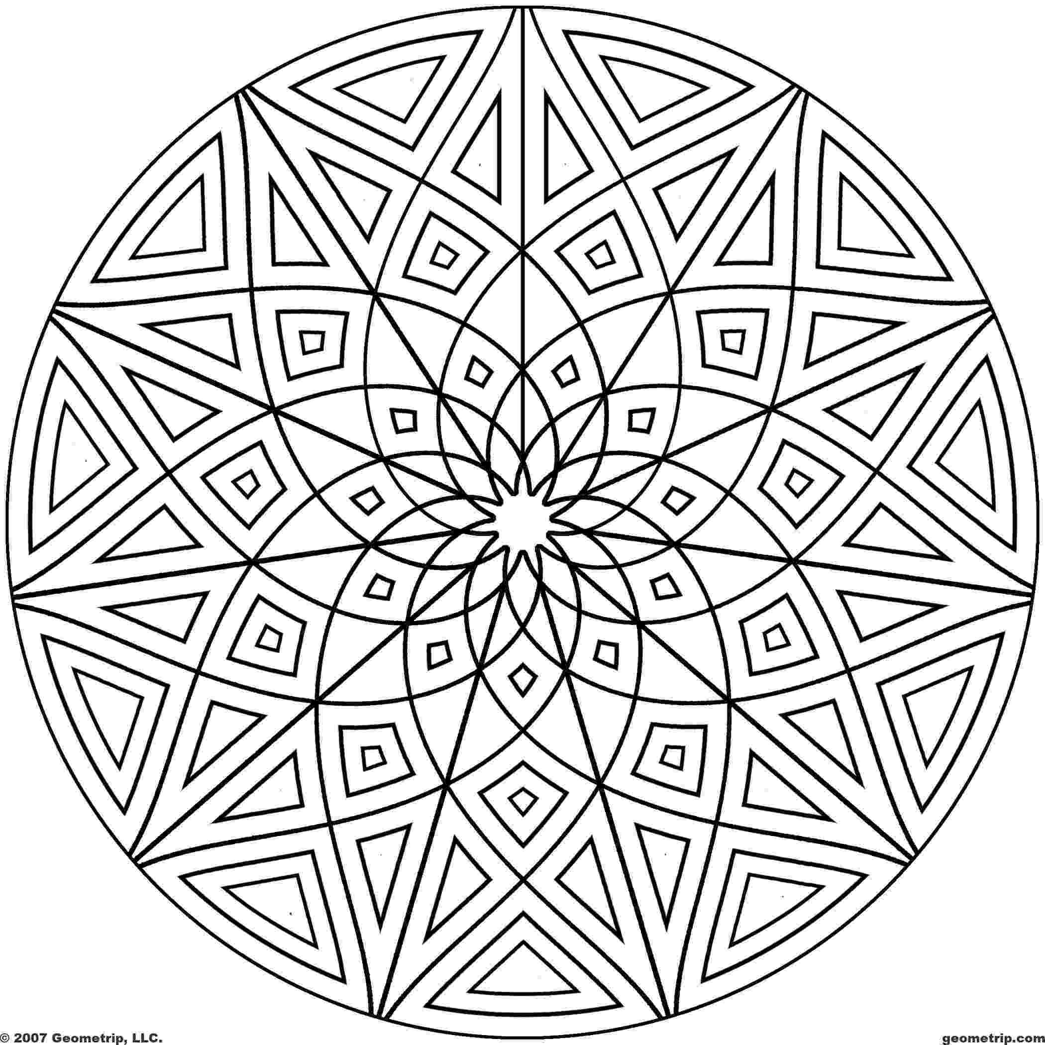 design color pages geometric mandala coloring pages coloring home design pages color