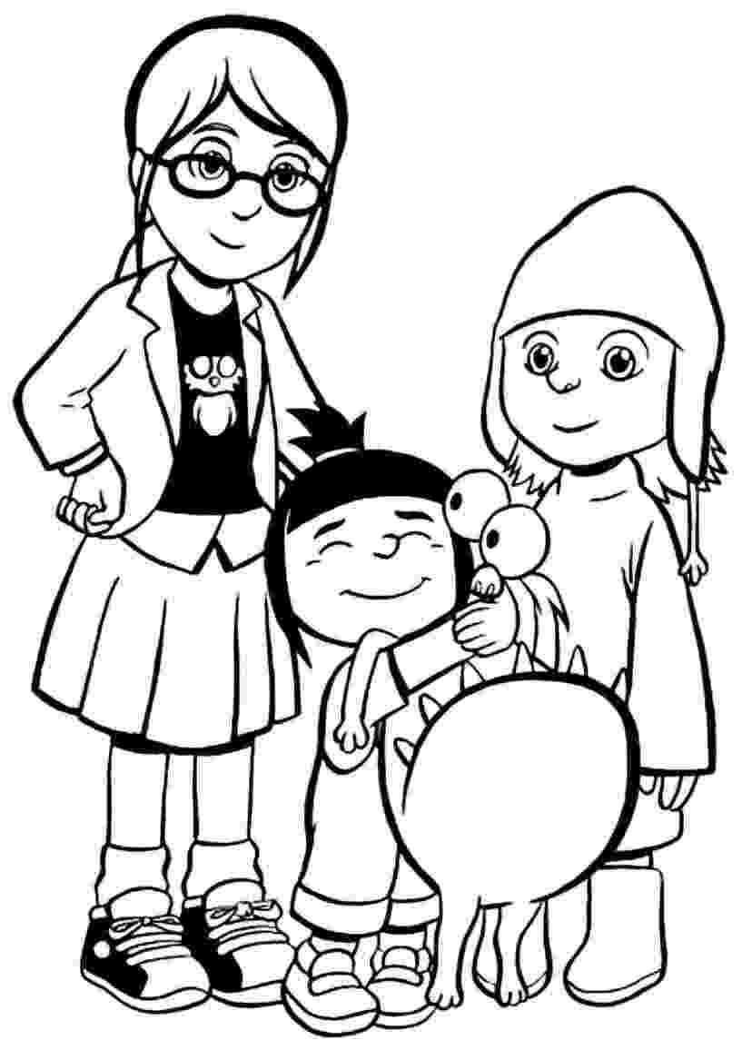 despicable me coloring pages free free printable despicable me coloring page round up coloring despicable free pages me