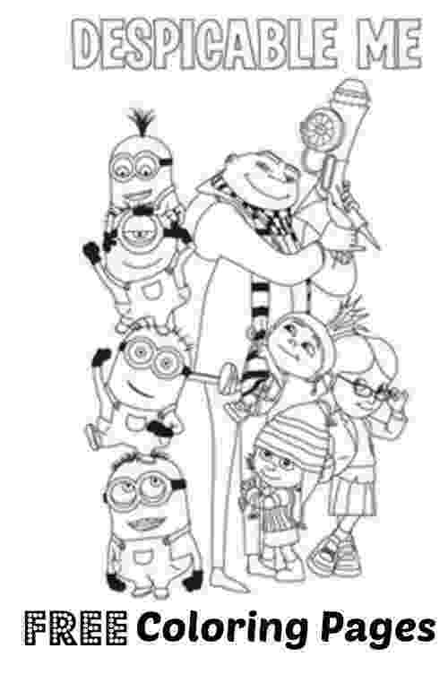 despicable me coloring pages free free printable despicable me coloring pages for kids pages free me despicable coloring