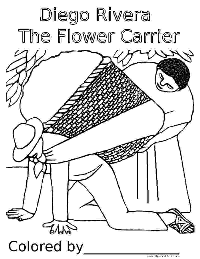 diego rivera coloring pages diego rivera art project for kids on pinterest diego rivera diego pages coloring