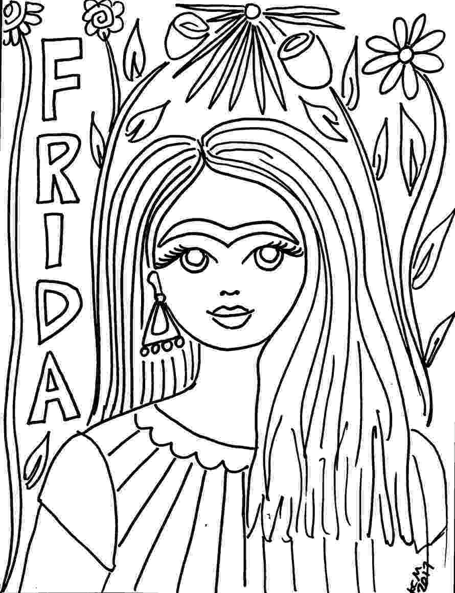 diego rivera coloring pages free frida kahlo coloring pages the crafty chica diego rivera pages coloring