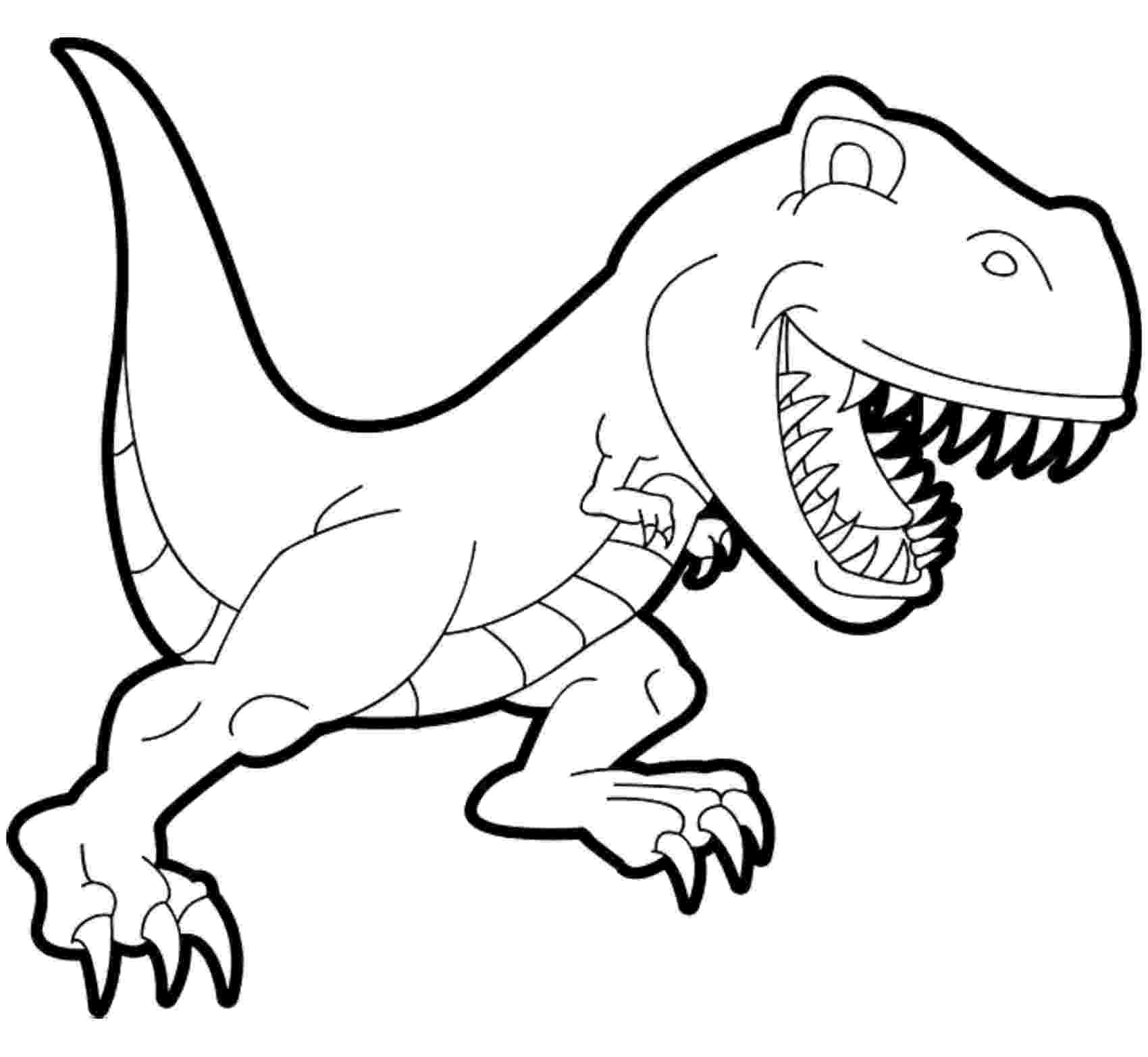 dinosaur for coloring dinosaurs free to color for kids tyrannosaur rex cartoon dinosaur for coloring