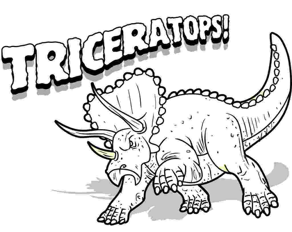dinosaurs to print funny dinosaur triceratops cartoon coloring pages for kids to dinosaurs print