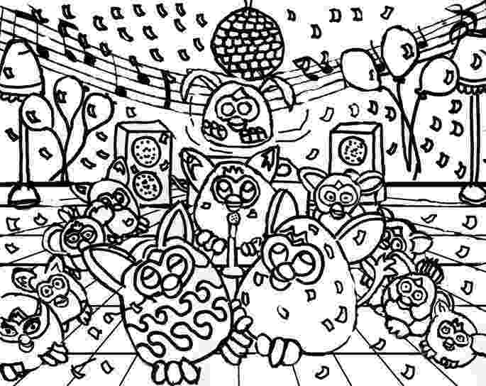 disco ball coloring page 72 best images about furby coloring pages on pinterest coloring ball page disco