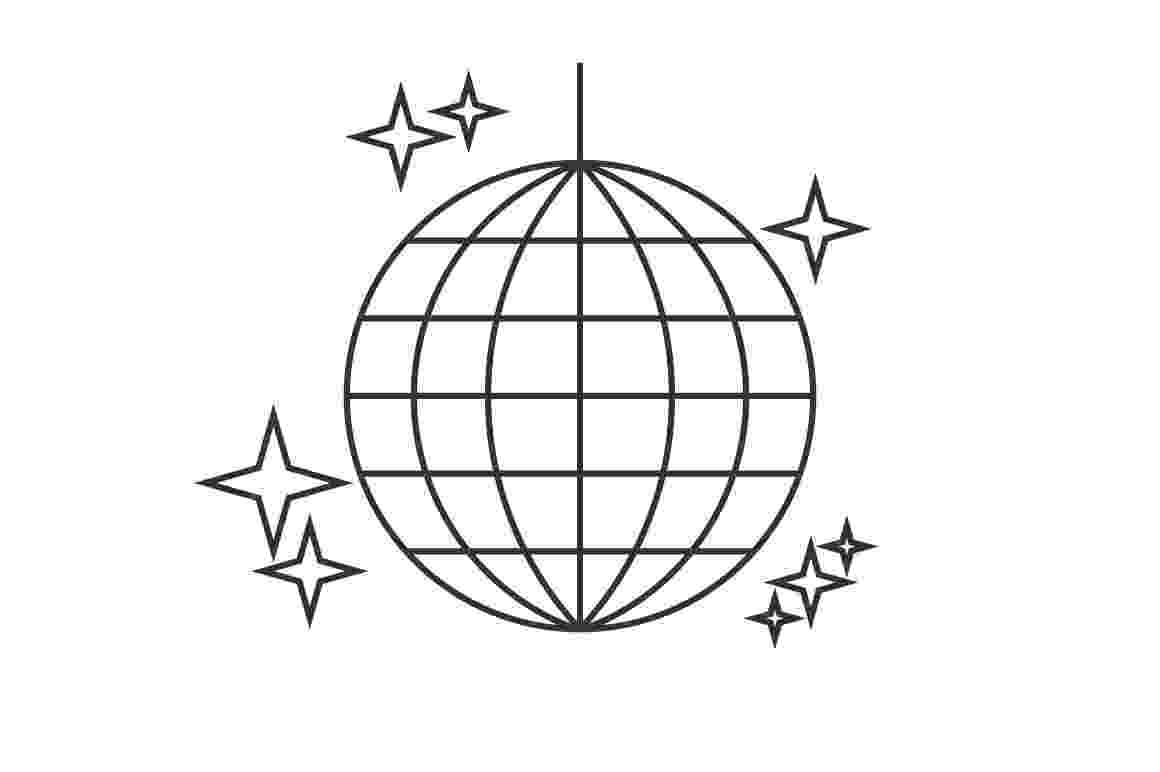 disco ball coloring page disco ball line icon icons creative market page disco ball coloring