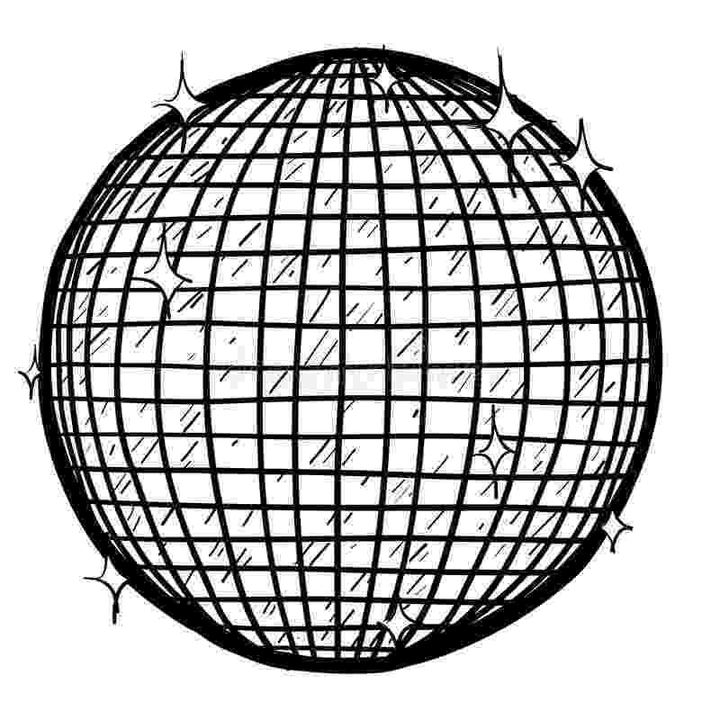 disco ball coloring page disco ball vector stock vector image of disco spin page ball coloring disco