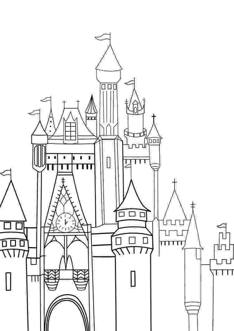disney castle coloring pages disney princess castle coloring pages pages castle disney coloring