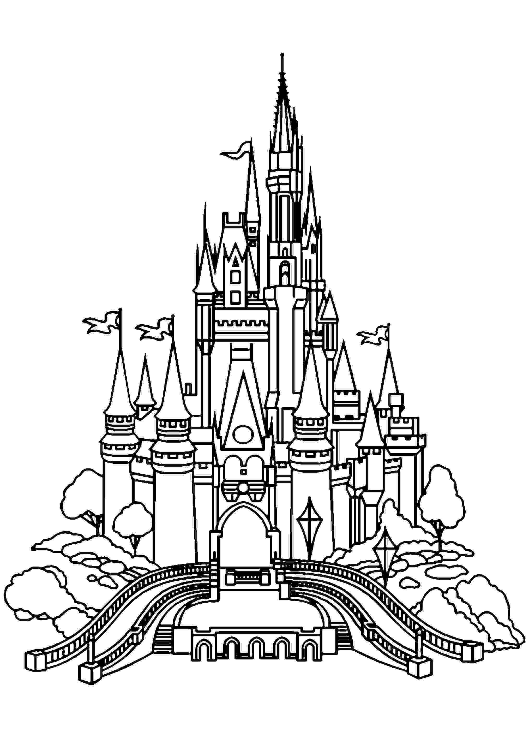 disney castle coloring pages disney princess castle coloring pages to kids pages coloring disney castle