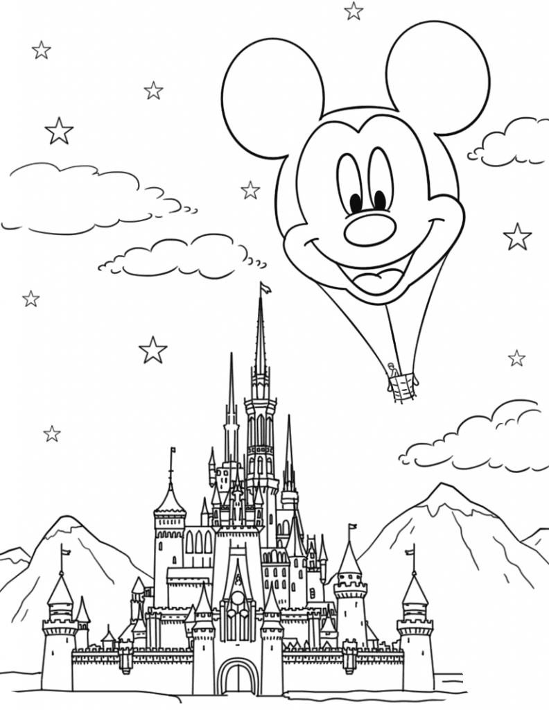 disney castle coloring pages free printable cinderella coloring pages for kids cool2bkids disney castle pages coloring