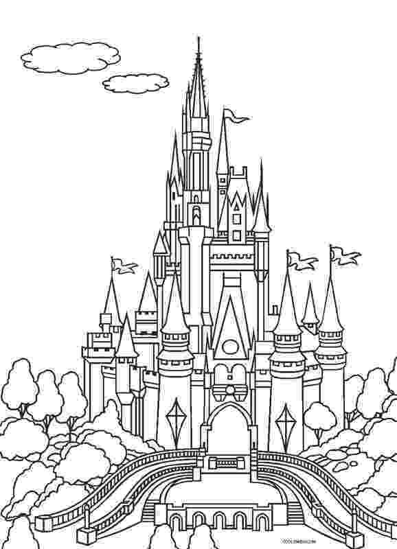 disney castle coloring pages printable castle coloring pages for kids cool2bkids disney coloring castle pages