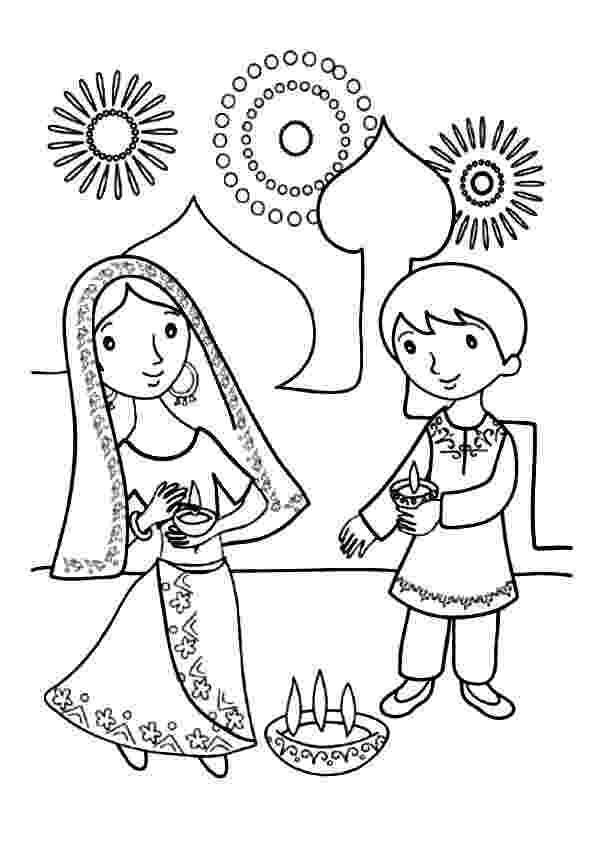 diwali coloring pages images kids celebrate diwali coloring page netart coloring pages images diwali