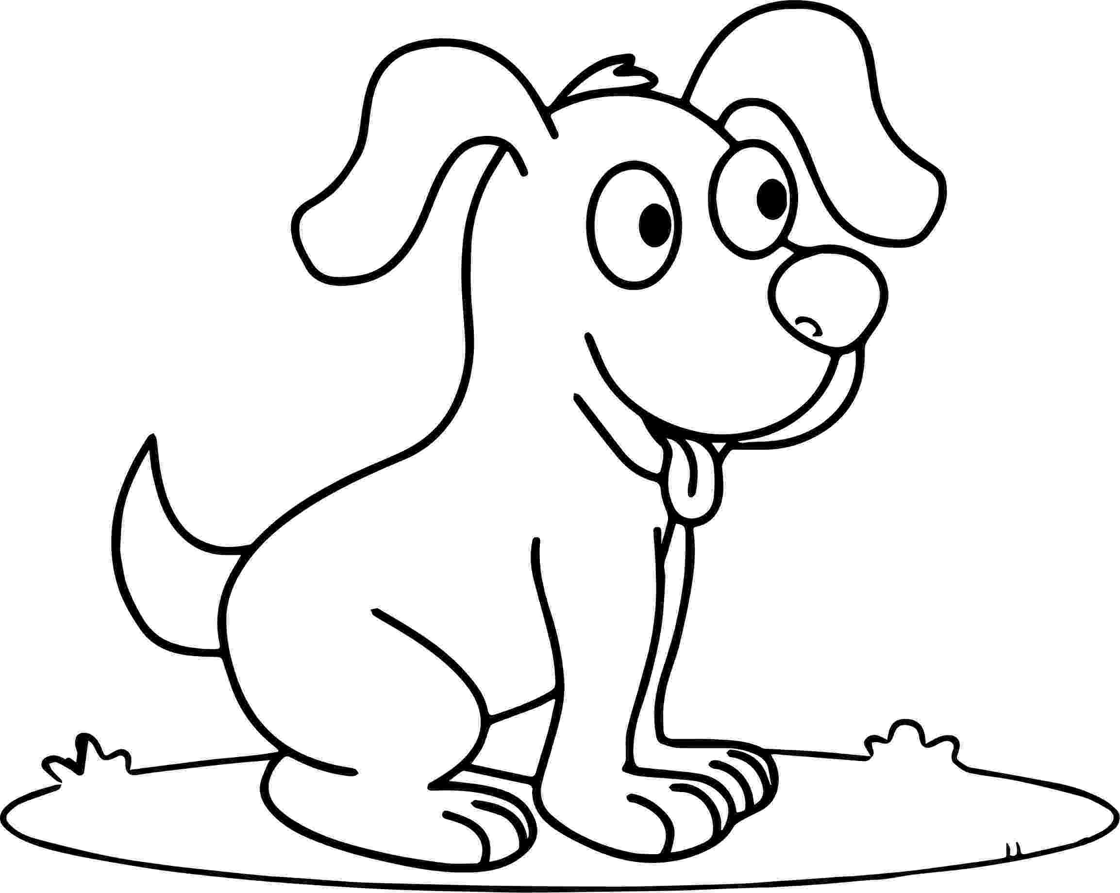 dogs to color cute happy smiling puppy puppy dog coloring page to color dogs
